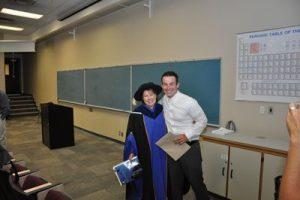 Bryce Owens (with Dr. Raya Fransila) recipient of the Elementary Teacher Education Program Maxwell Cameron Award 2009.