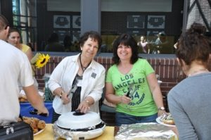 Dr. Sharon McCoubrey and Dr. Wendy Klassen at STEP Orientation Barbeque