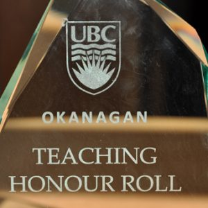 Congratulations to all  UBC Teaching Honour Roll recepients