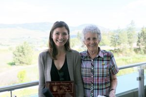 Kelly Hanson receives Faculty of Education's Vicki Green Graduate Award