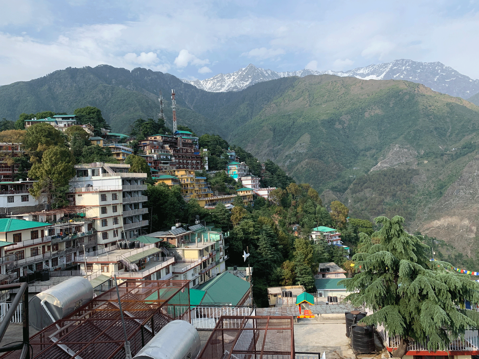 View from an accommodation in India
